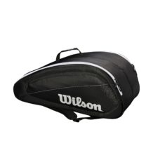 http://wigmoresports.co.uk/product/wilson-fed-team-12-racquet-black-white/