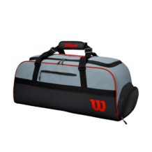 http://wigmoresports.co.uk/product/wilson-clash-duffle-large-grey-black/